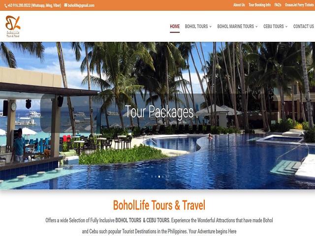 Bohollife.comのホームページ