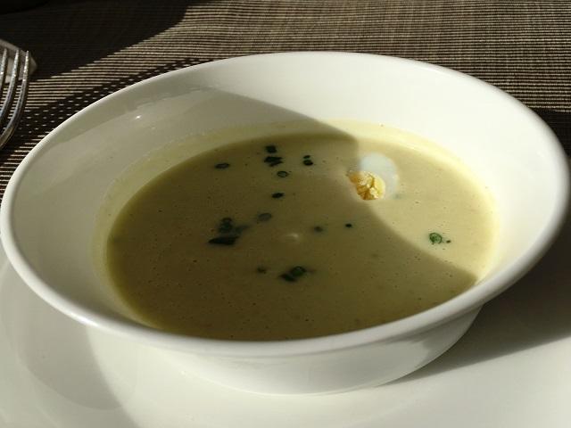 朝食のスープ。美味しかった!