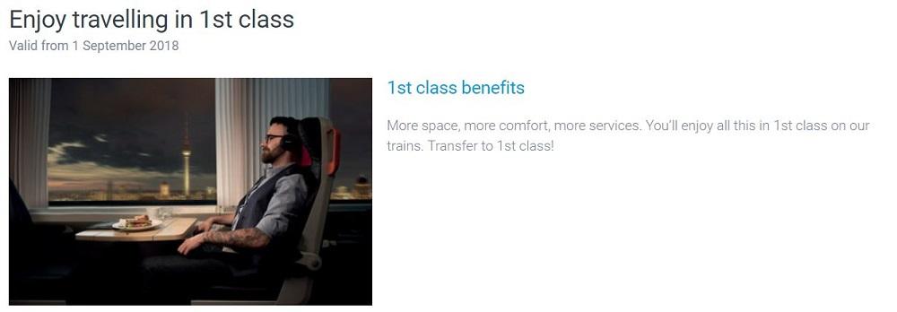 1st class:チェコ鉄道ホームページより