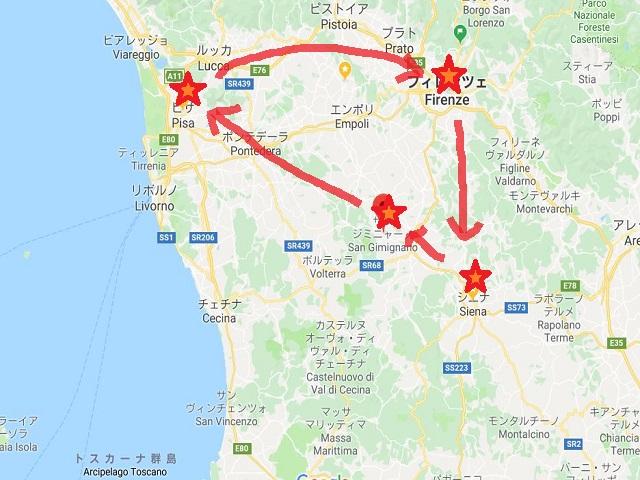 ツアーの旅順。GoogleMapより出典