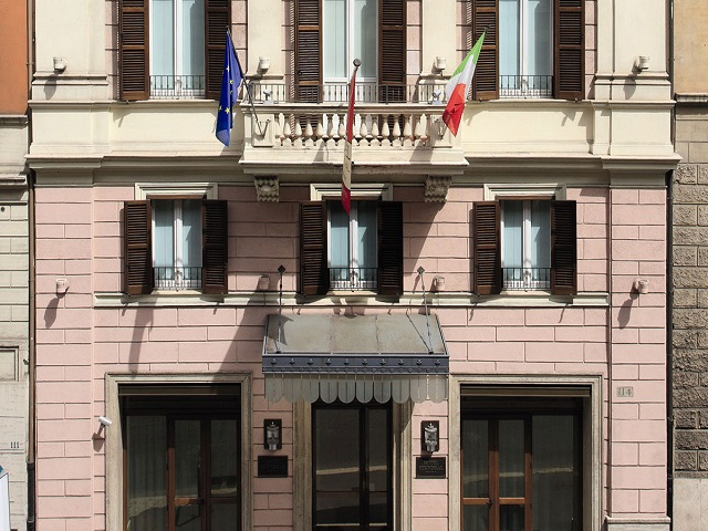 スタンダールホテルローマの外観