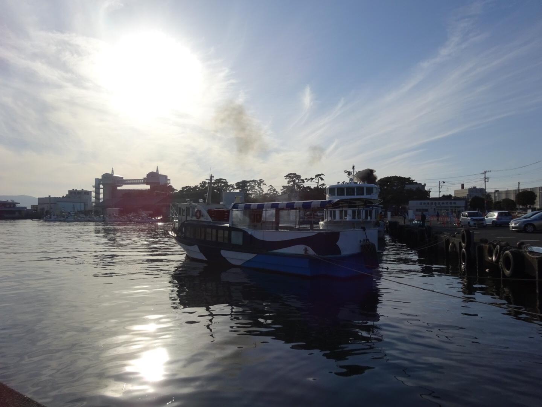 沼津港からの夕焼け