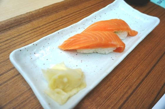 台北出発前のお寿司