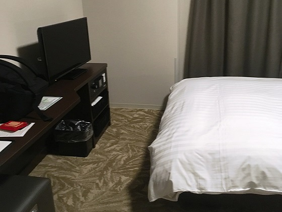 テレビも十分な大きさ。寝ながら見れる