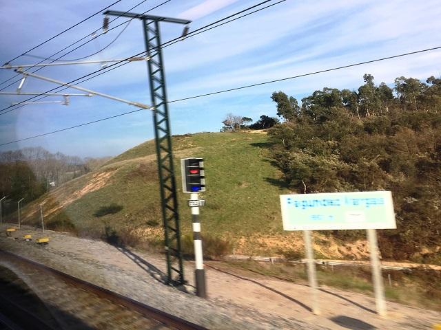 バルセロナへ向かう途中の駅