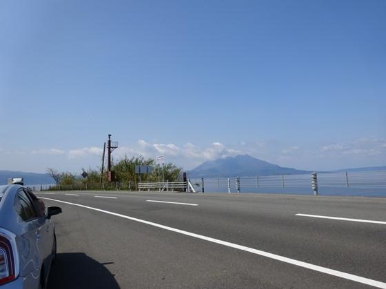途中から見える桜島