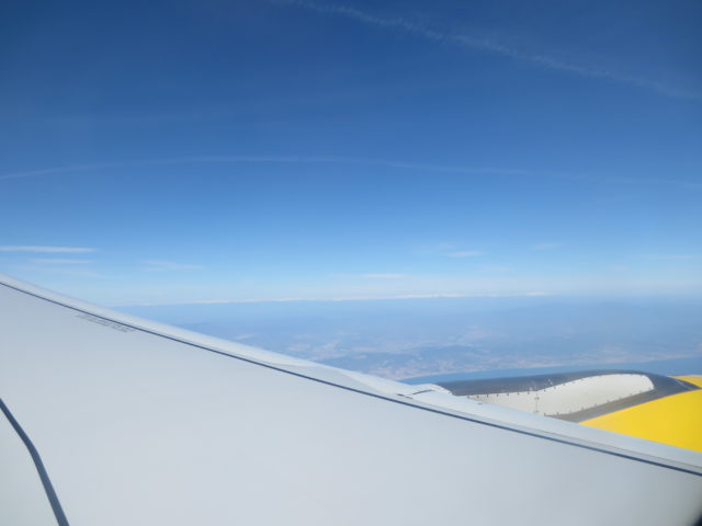 view from airplane, Vueling, in europe