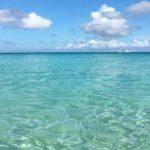 プライベートビーチの海