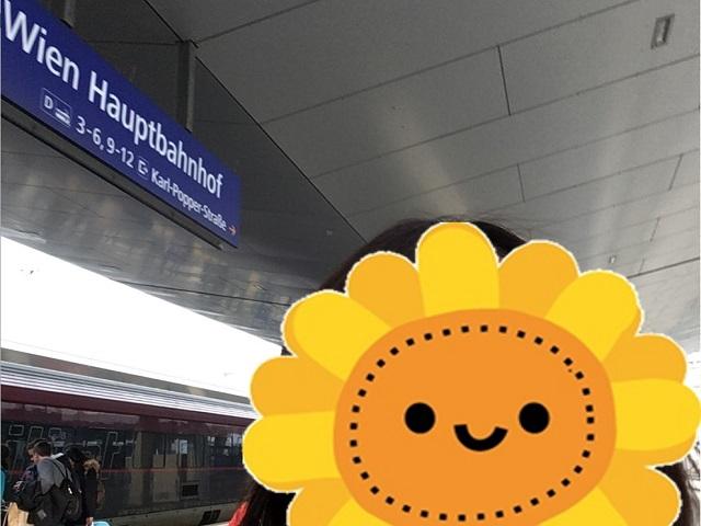 ウィーンの駅に到着しました