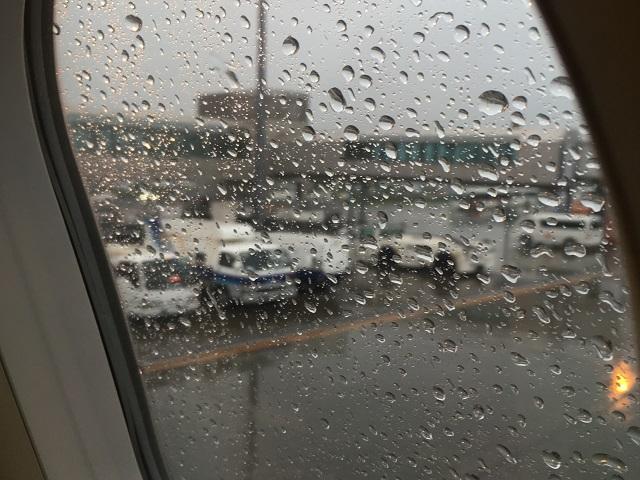 雨の札幌に到着