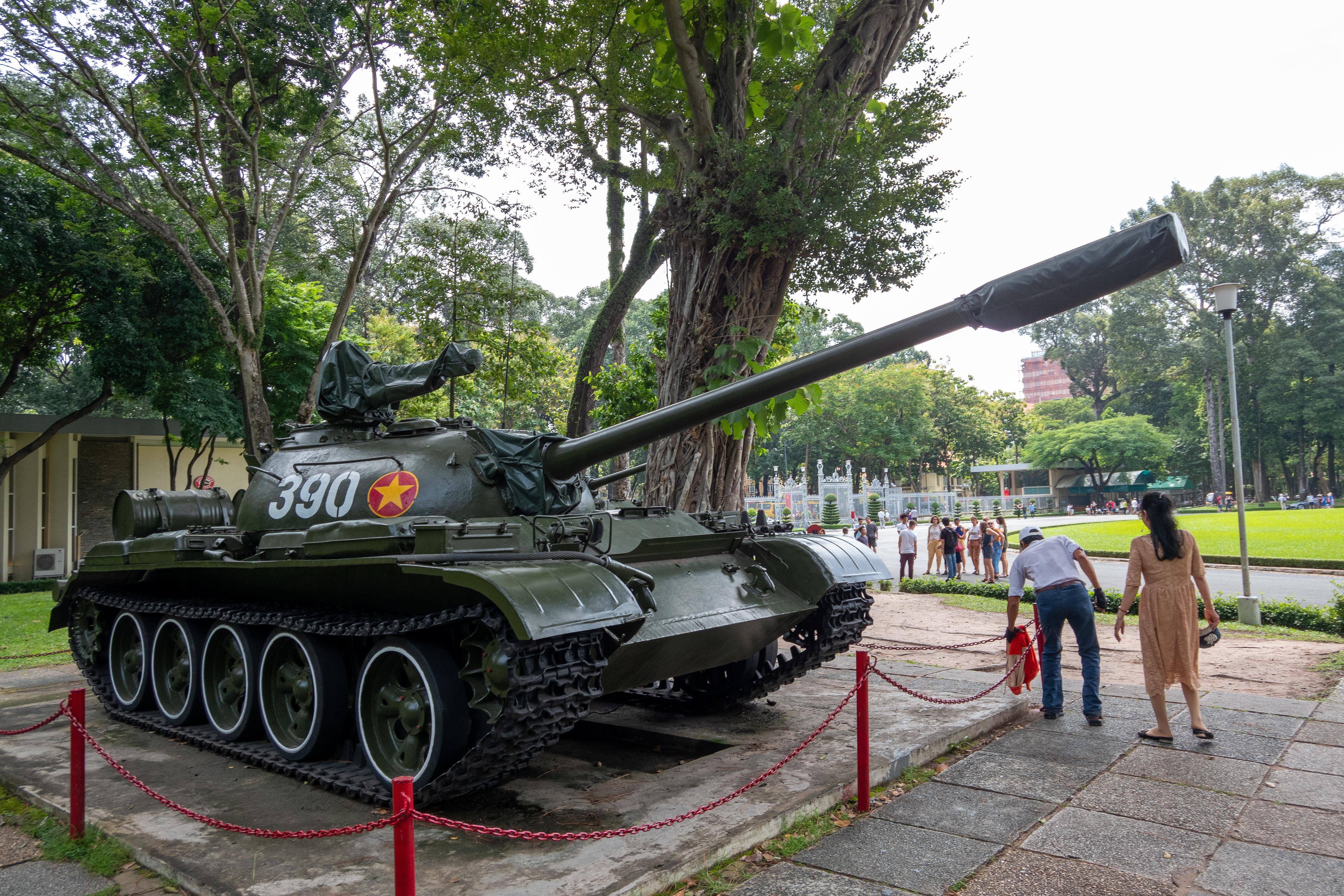 展示されていた戦車
