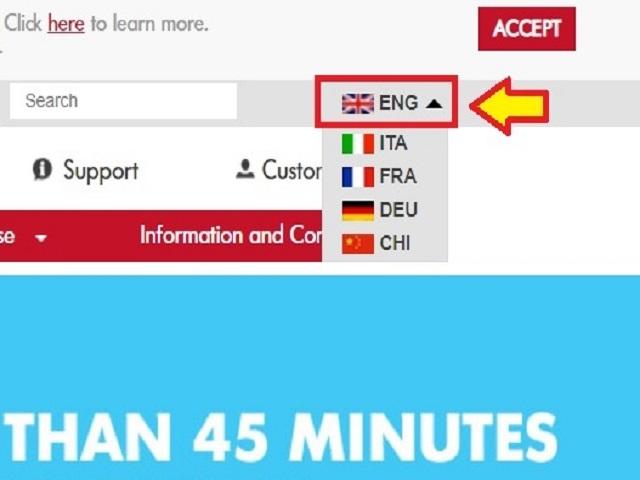 言語は英語を選択