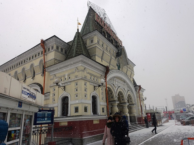 Vladivostok Station in winter