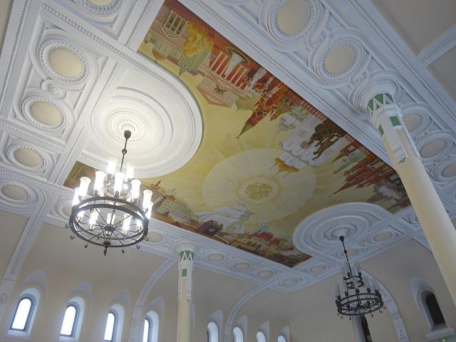 ウラジオストク駅の駅舎の天井画 Vladivostok Station ceiling drawing
