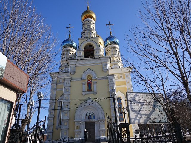 Beautiful Cathedral of the Intercession in Vladivostok