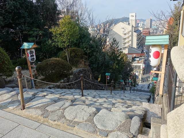 伊佐爾波神社からの風景