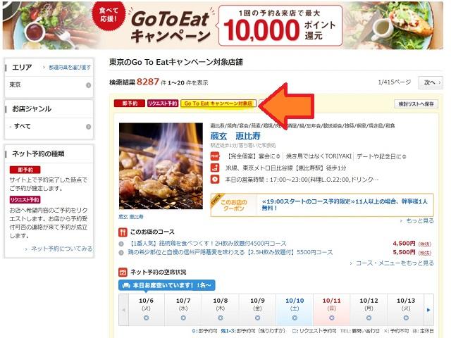 GoToEat予約