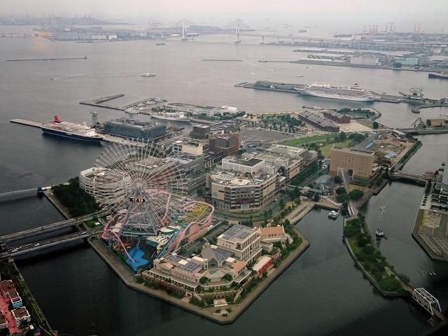 横浜ロイヤルパークホテルからの眺め