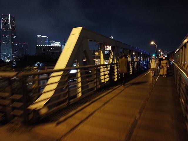 横浜港の廃線跡