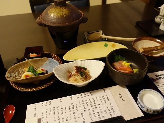 貝掛温泉の夕食