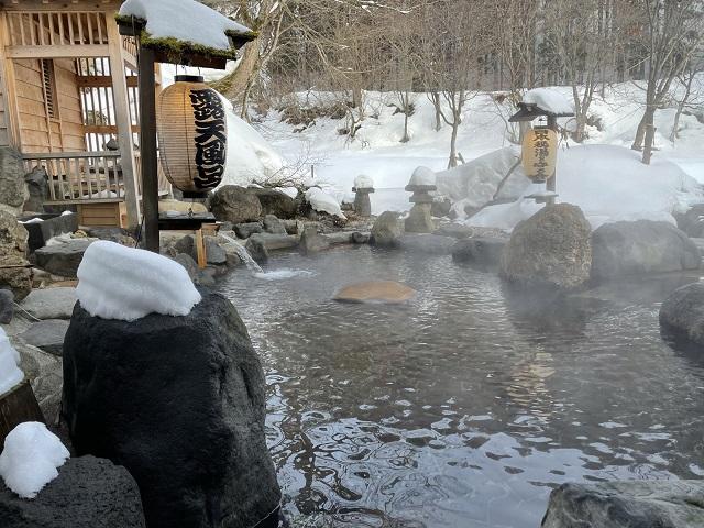 貝掛温泉の自慢の露天風呂