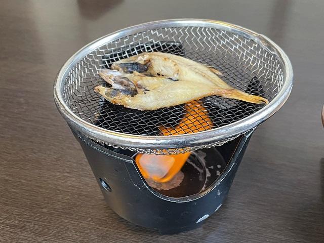 貝掛温泉の朝食ののどぐろ