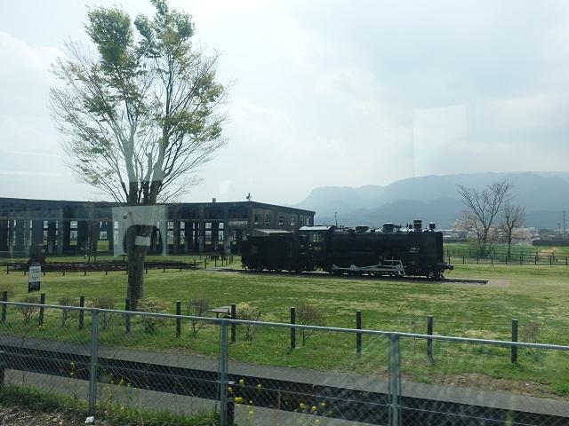 ぎりぎり頑張って撮れた豊後森機関庫とSL機関車