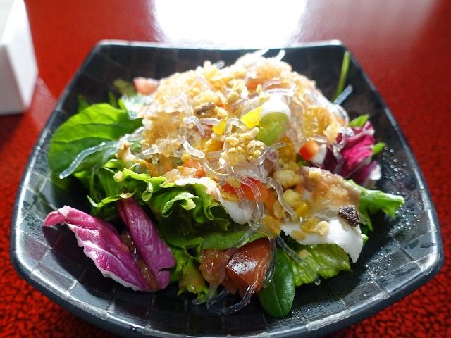 田乃倉朝食のサラダ