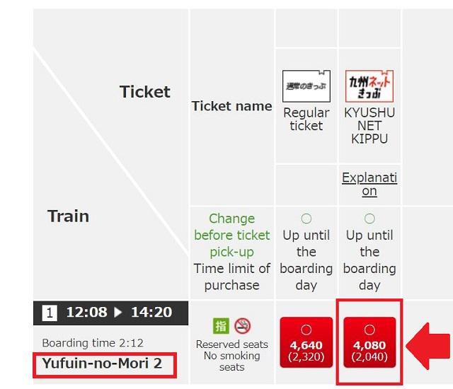 JR Kyushu yufuin no mori online ticket