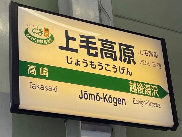 上越新幹線の上毛高原駅