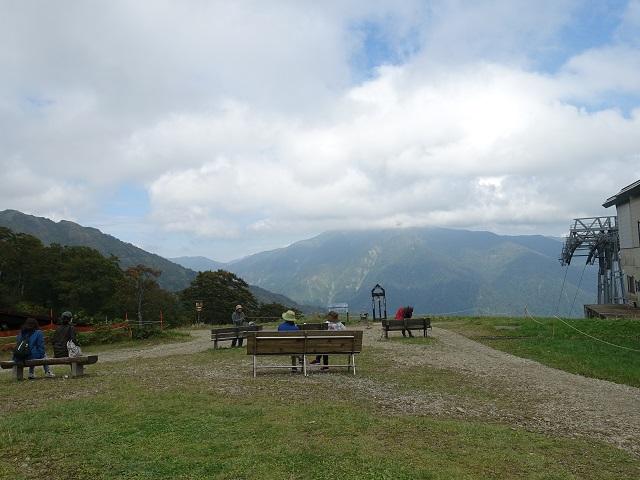谷川岳のロープウェイ終点